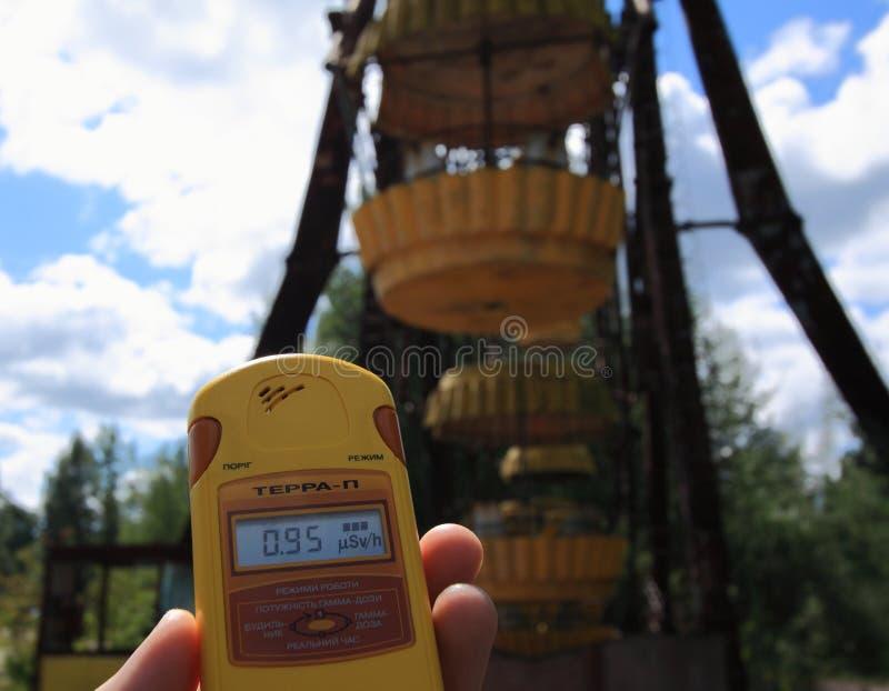 Εγκαταλειμμένη ρόδα Ferris, ακραίος τουρισμός στο Τσέρνομπιλ στοκ φωτογραφία