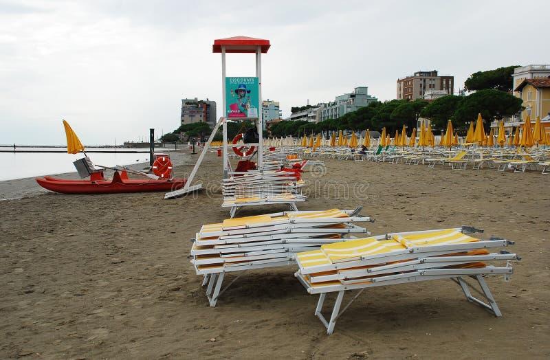 Εγκαταλειμμένη Grado παραλία στοκ εικόνες