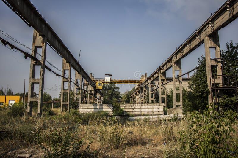 Εγκαταλειμμένο βιομηχανικό κτήριο σε Avdiivka στοκ φωτογραφία με δικαίωμα ελεύθερης χρήσης