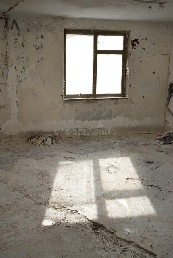 Εγκαταλειμμένο κενό δωμάτιο στοκ εικόνες με δικαίωμα ελεύθερης χρήσης