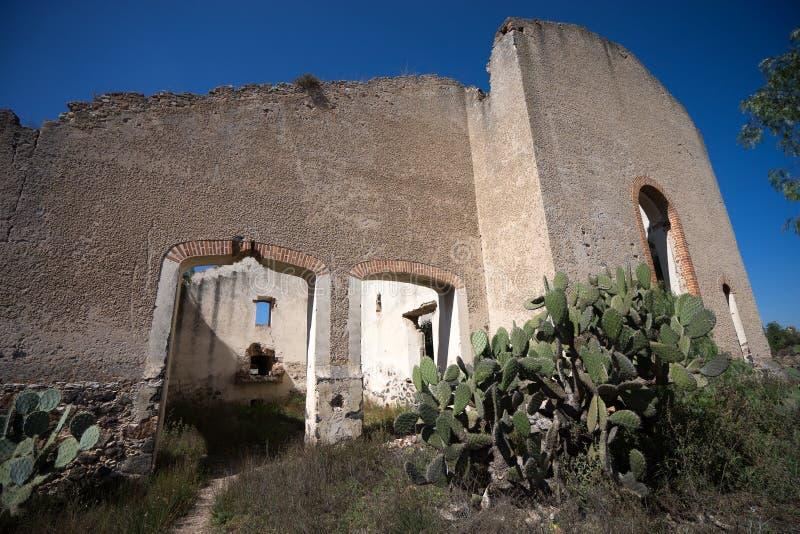 Εγκαταλειμμένο κτήριο hacienda στο Μεξικό στοκ εικόνα με δικαίωμα ελεύθερης χρήσης