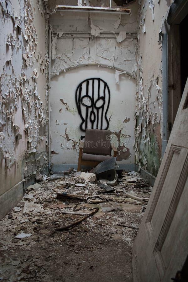 Εγκαταλειμμένο νοσοκομείο που δεν λαμβάνεται υπόψη στοκ φωτογραφίες