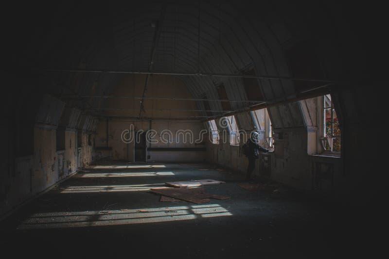 Εγκαταλειμμένο νοσοκομείο που δεν λαμβάνεται υπόψη στοκ φωτογραφία με δικαίωμα ελεύθερης χρήσης