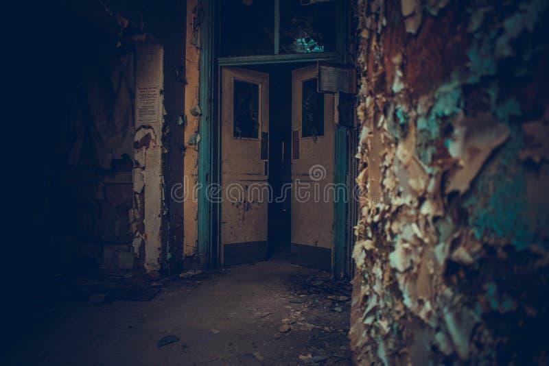 Εγκαταλειμμένο νοσοκομείο που δεν λαμβάνεται υπόψη στοκ εικόνα με δικαίωμα ελεύθερης χρήσης