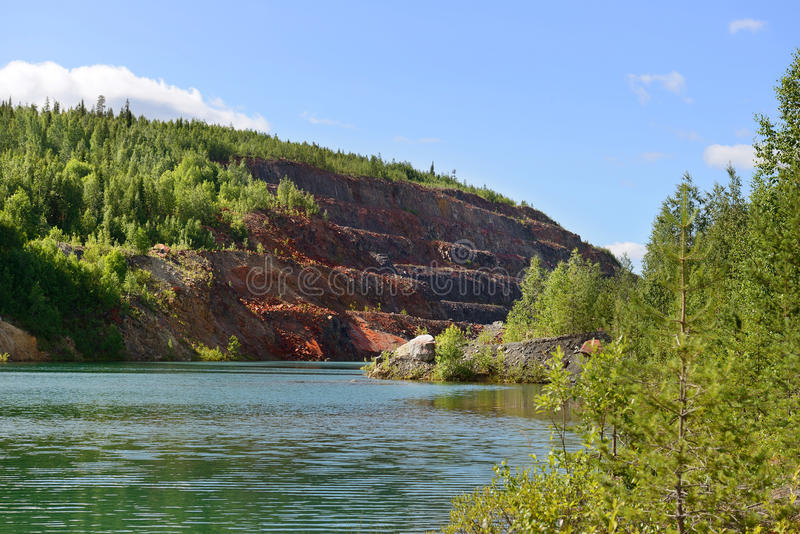 Εγκαταλειμμένο ορυχείο. Βόρεια Φινλανδία στοκ φωτογραφία