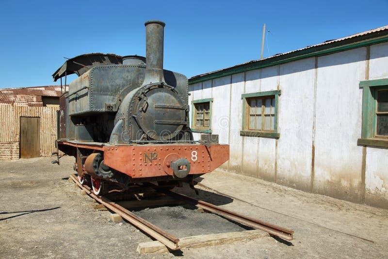 Εγκαταλελειμμένο και οξυδώνοντας τραίνο ατμού σε Humberstone, Χιλή στοκ φωτογραφίες με δικαίωμα ελεύθερης χρήσης