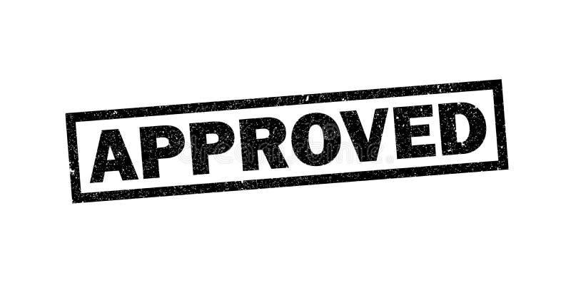 Εγκεκριμένη σφραγίδα γραμματοσήμων Grunge, διανυσματικό σύμβολο απεικόνιση αποθεμάτων
