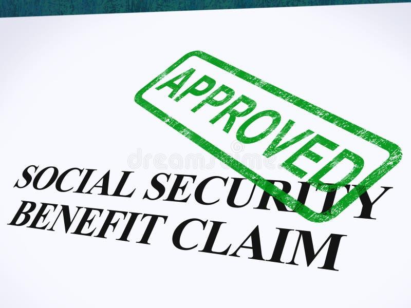 Εγκεκριμένο αξίωση γραμματόσημο κοινωνικής ασφάλισης απεικόνιση αποθεμάτων
