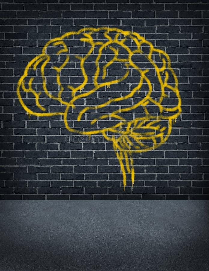 Εγκληματικό μυαλό διανυσματική απεικόνιση