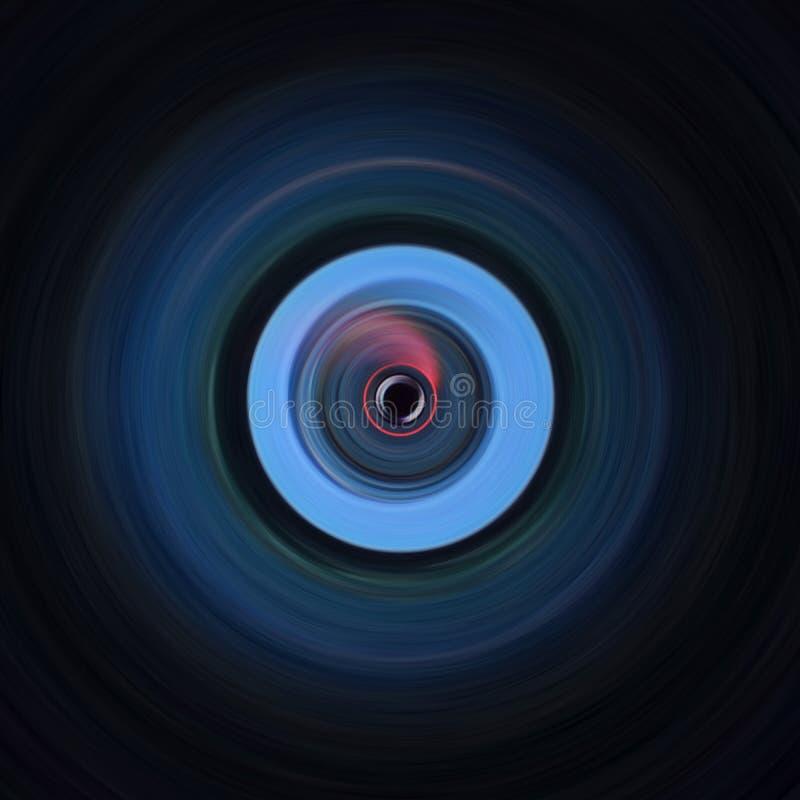 Εγκύκλιος που αντιπαραβάλλει τη μαύρη και μπλε τέχνη στοκ εικόνα με δικαίωμα ελεύθερης χρήσης