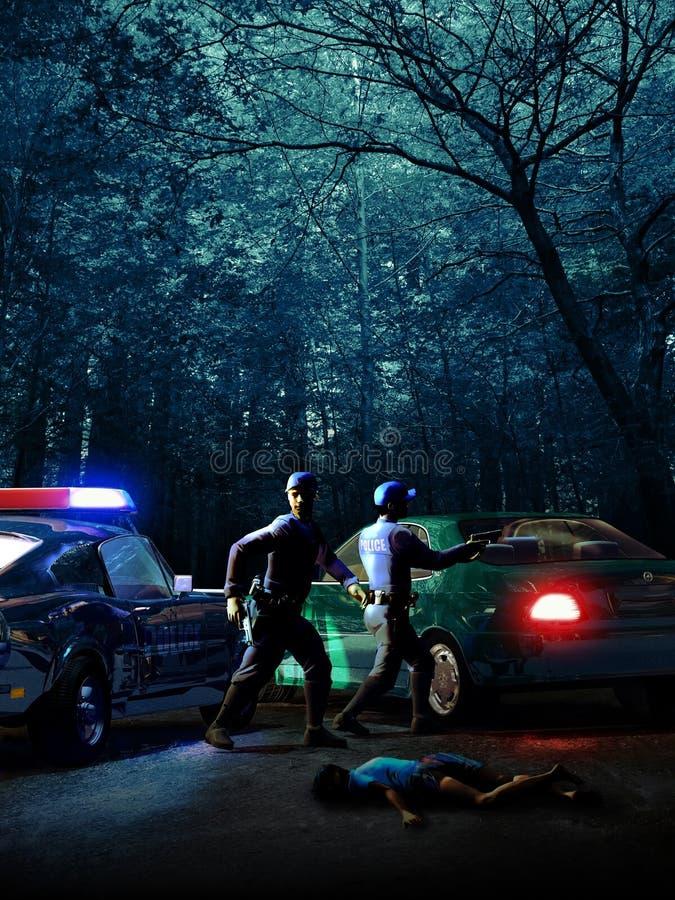 εγκληματική σκηνή απεικόνιση αποθεμάτων