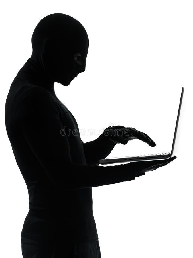 Εγκληματικός χάκερ υπολογιστών κλεφτών στοκ εικόνα με δικαίωμα ελεύθερης χρήσης