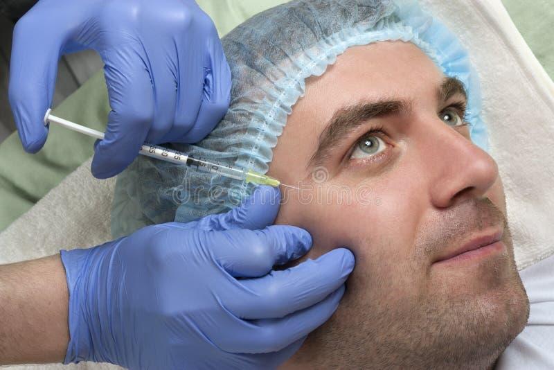 Εγχύσεις επεξεργασίας Botox στοκ φωτογραφίες με δικαίωμα ελεύθερης χρήσης