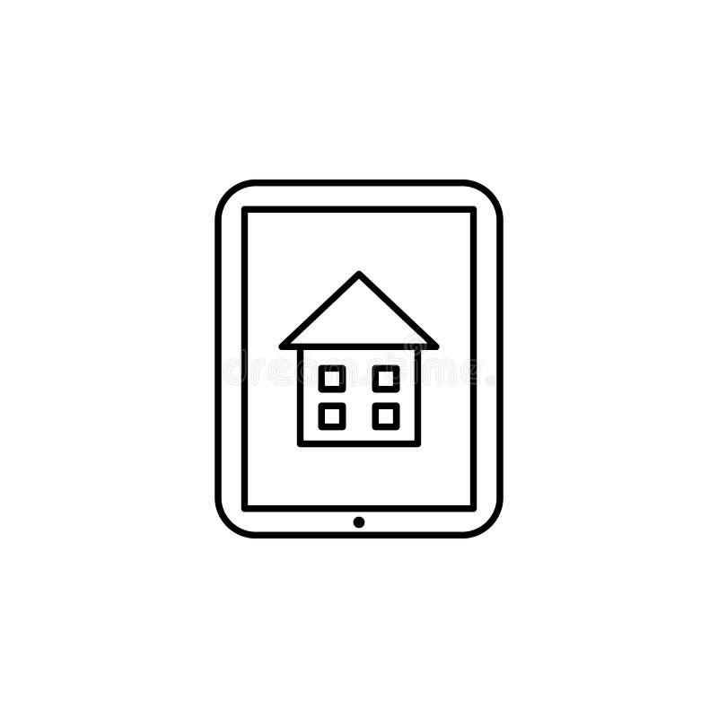 Εγχώρια εκπαίδευση, σε απευθείας σύνδεση εικονίδιο εκπαίδευσης Στοιχείο του εικονιδίου εγχώριας εκπαίδευσης Λεπτό εικονίδιο γραμμ απεικόνιση αποθεμάτων