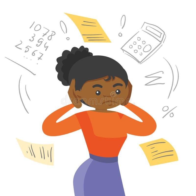 Εγχώριοι λογαριασμοί υπολογισμού γυναικών αφροαμερικάνων απεικόνιση αποθεμάτων