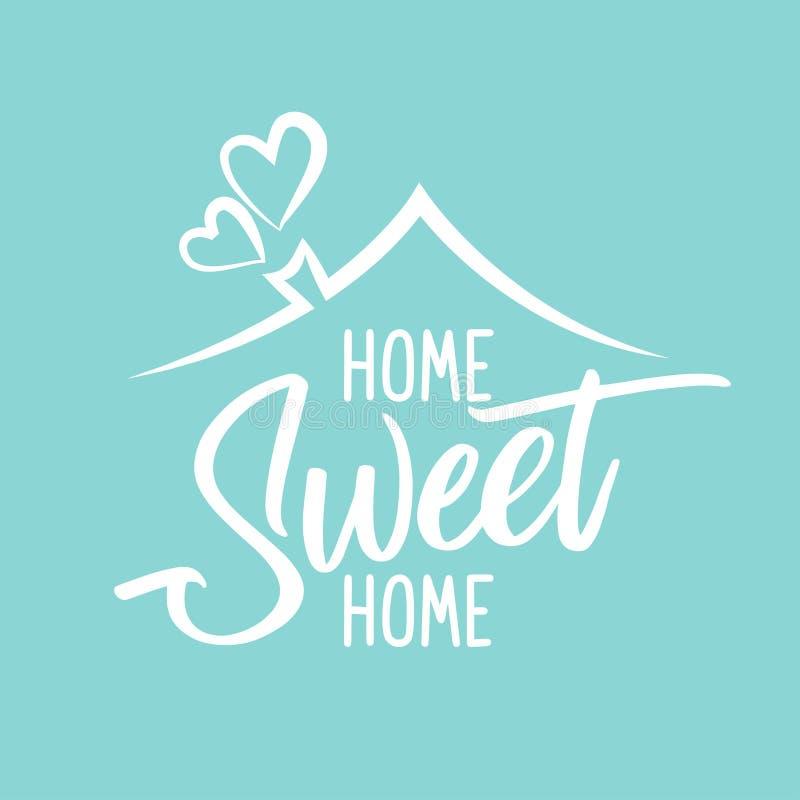 Εγχώριο γλυκό σπίτι - αφίσα τυπογραφίας ελεύθερη απεικόνιση δικαιώματος