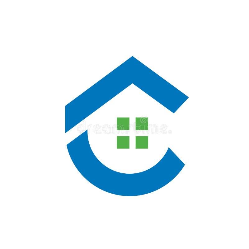 Εγχώριο λογότυπο γραμμάτων Γ, διανυσματική απεικόνιση ελεύθερη απεικόνιση δικαιώματος