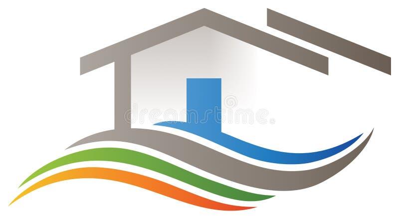 Εγχώριο λογότυπο σπιτιών διανυσματική απεικόνιση