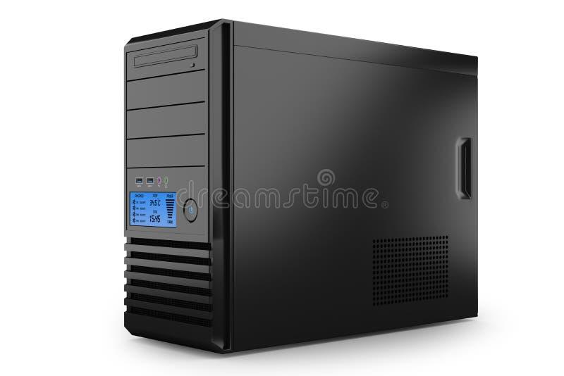 Εγχώριο PC υπολογιστών γραφείου πύργων περίπτωσης. Υπολογιστής τερματικών σταθμών διανυσματική απεικόνιση
