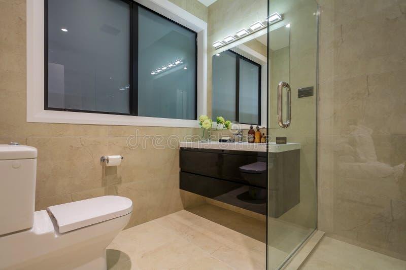 Εγχώριο washroom πολυτέλειας στοκ εικόνα με δικαίωμα ελεύθερης χρήσης