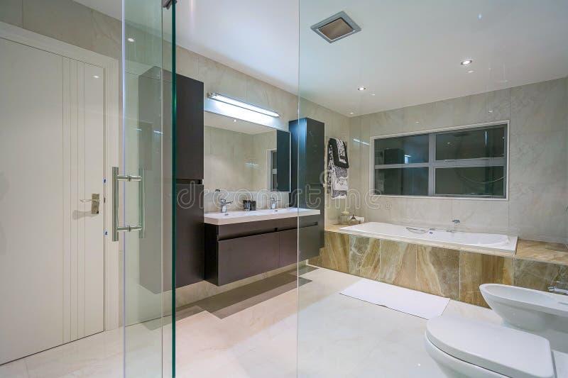 Εγχώριο washroom πολυτέλειας στοκ εικόνα