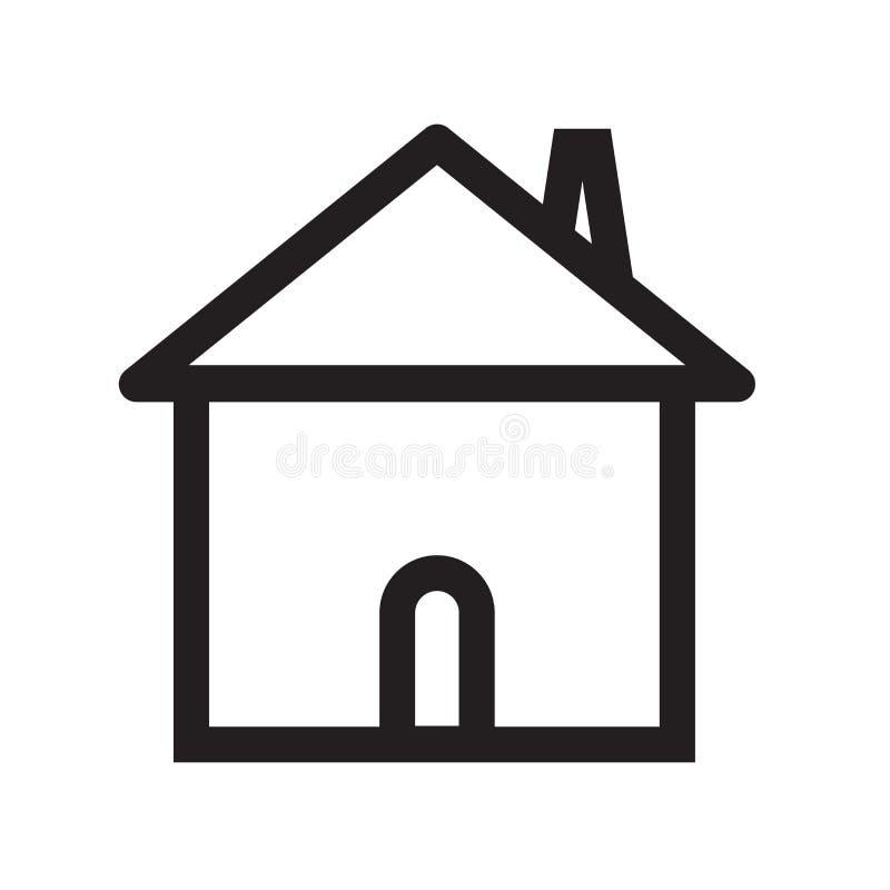 Εγχώριων κουμπιών σημάδι και σύμβολο εικονιδίων διανυσματικό που απομονώνονται στο άσπρο backgr ελεύθερη απεικόνιση δικαιώματος