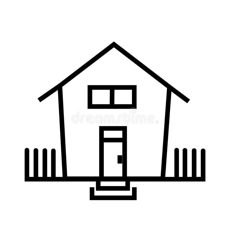 Εγχώριων κουμπιών σημάδι και σύμβολο εικονιδίων διανυσματικό που απομονώνονται στο άσπρο υπόβαθρο, έννοια λογότυπων εγχώριων κουμ ελεύθερη απεικόνιση δικαιώματος