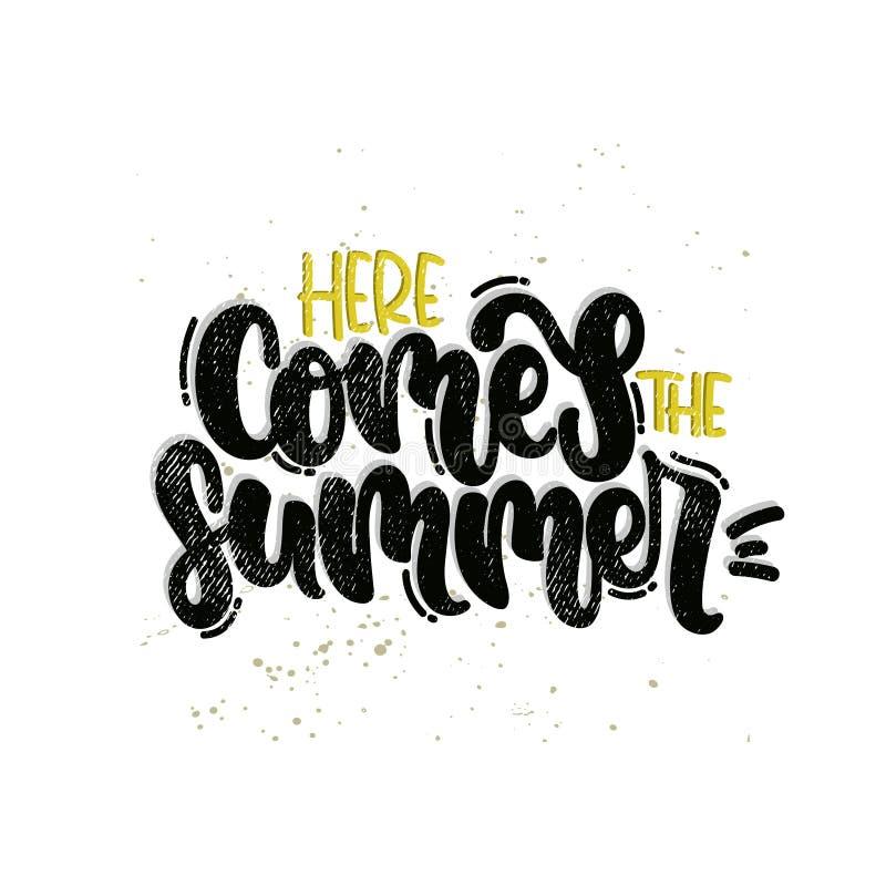 Εδώ έρχεται το καλοκαίρι ελεύθερη απεικόνιση δικαιώματος