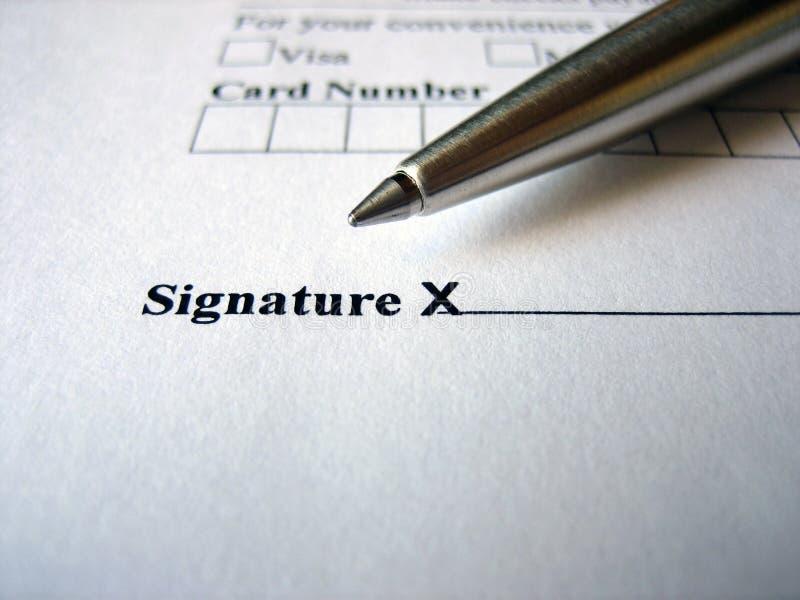 εδώ παρακαλώ υπογράψτε στοκ εικόνα με δικαίωμα ελεύθερης χρήσης