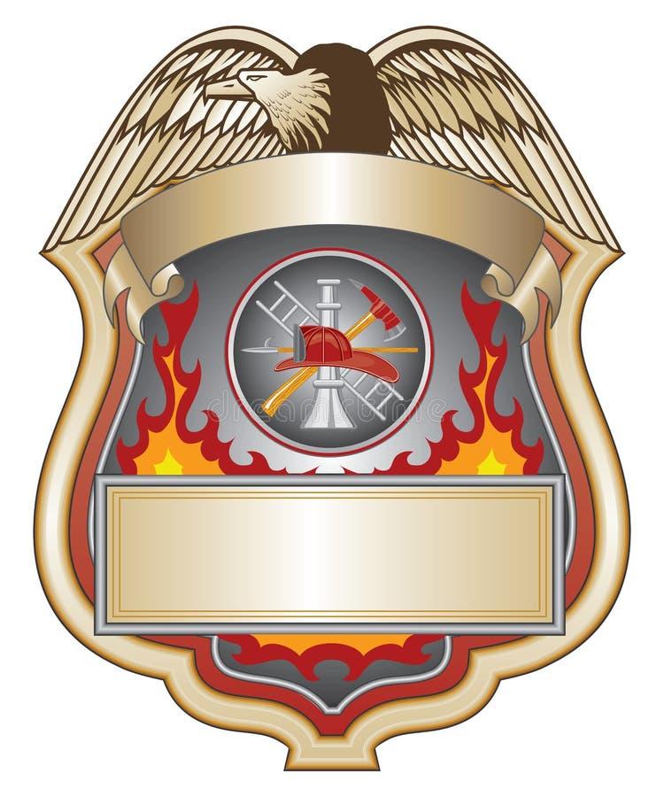 εθελοντής πυροσβέστης ΙΙ ασπίδα διανυσματική απεικόνιση