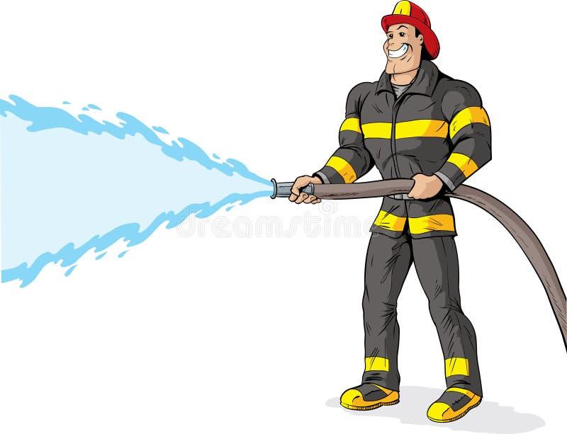 εθελοντής πυροσβέστης ελεύθερη απεικόνιση δικαιώματος