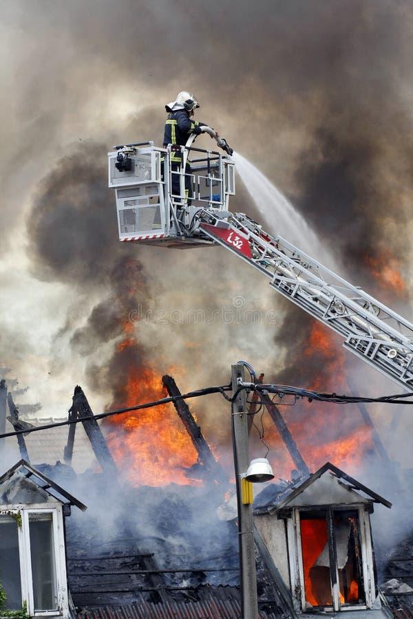 εθελοντείς πυροσβέστ&epsilo στοκ εικόνα