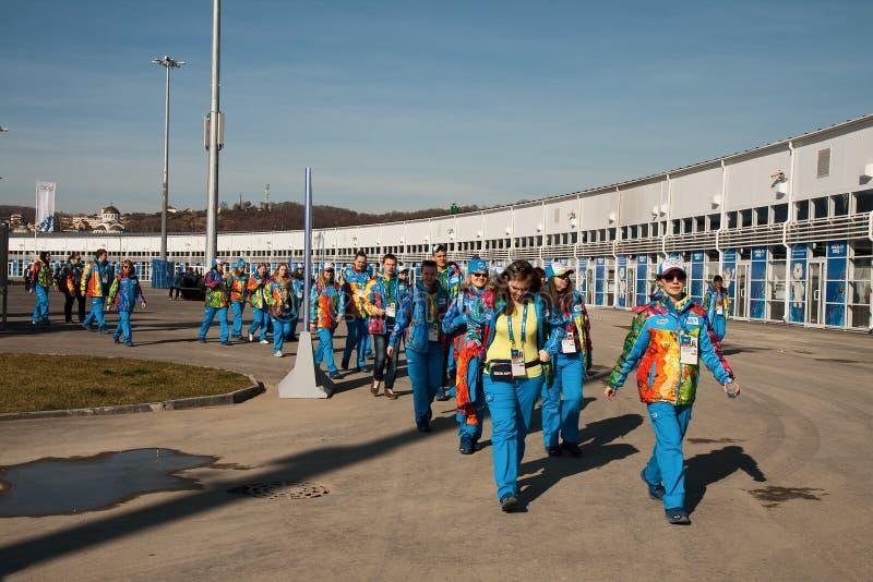 Εθελοντές στο ολυμπιακό πάρκο στοκ φωτογραφίες με δικαίωμα ελεύθερης χρήσης