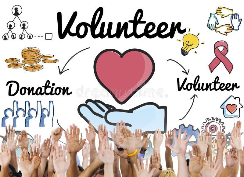 Εθελοντική έννοια χεριών βοηθείας ευημερίας δωρεάς στοκ φωτογραφίες με δικαίωμα ελεύθερης χρήσης