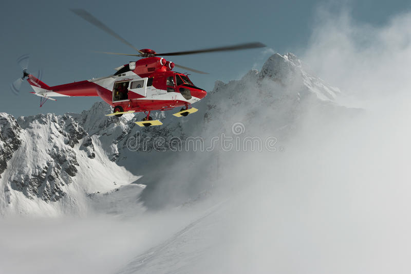 Εθελοντική υπηρεσία διάσωσης βουνών στοκ φωτογραφίες