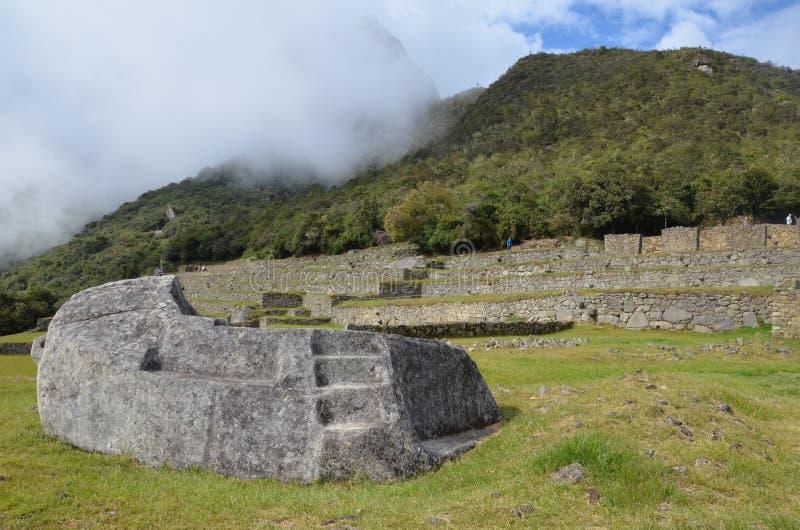 Εθιμοτυπικός βράχος σε Machu Picchu στοκ εικόνες