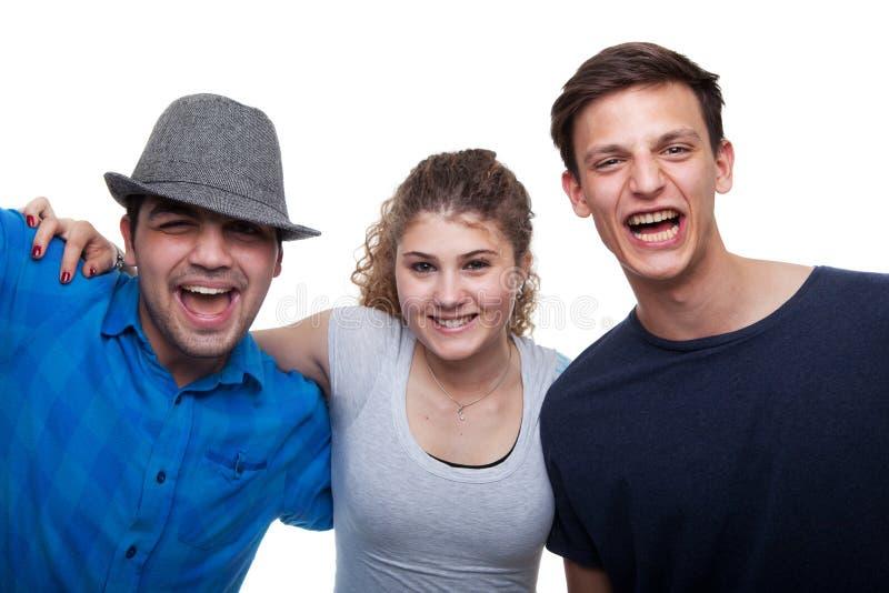 εθιστικοί άνθρωποι που χαμογελούν τις νεολαίες στοκ εικόνα με δικαίωμα ελεύθερης χρήσης