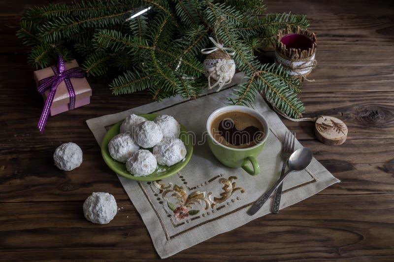 """Εθνικά, ελληνικά μπισκότα Χριστουγέννων """"kourabies """" στοκ φωτογραφία με δικαίωμα ελεύθερης χρήσης"""