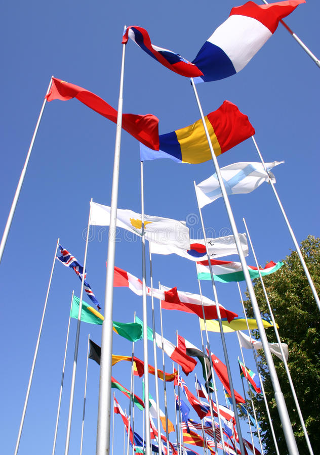 Εθνικές σημαίες, στοκ φωτογραφία με δικαίωμα ελεύθερης χρήσης
