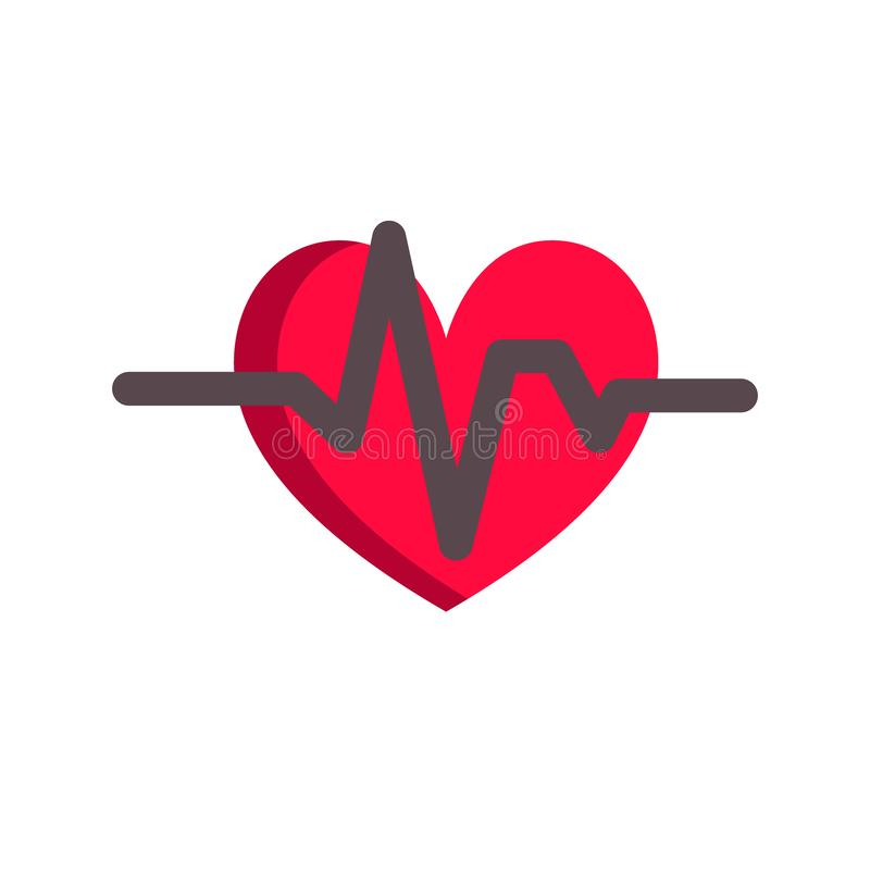 Εθνική έννοια μήνα καρδιών Απλό σχέδιο στο επίπεδο ύφος, διάνυσμα απεικόνιση αποθεμάτων