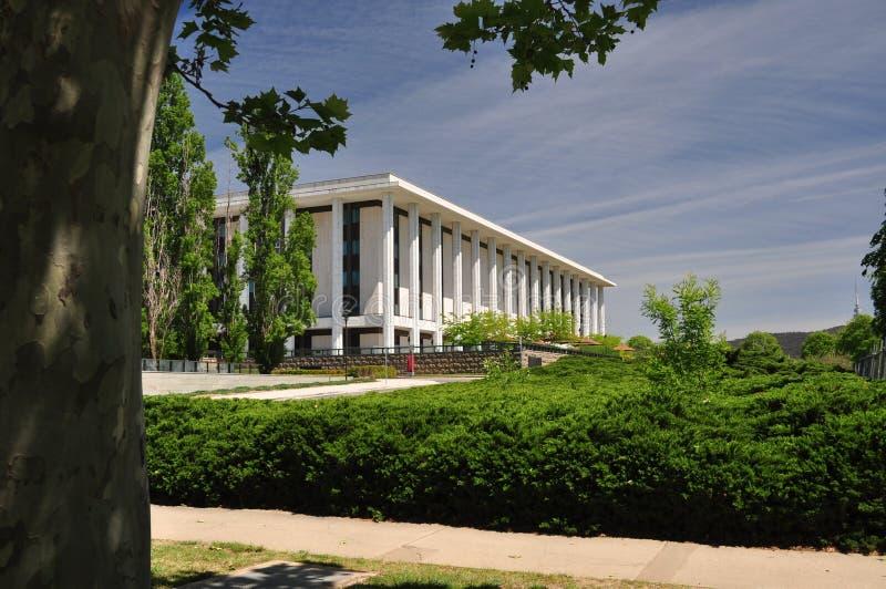 Εθνική βιβλιοθήκη Καμπέρρα στοκ φωτογραφία με δικαίωμα ελεύθερης χρήσης