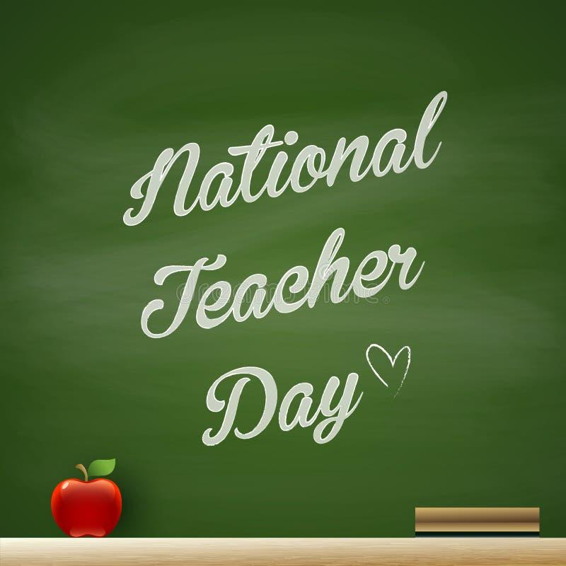 Εθνική ημέρα δασκάλων ελεύθερη απεικόνιση δικαιώματος