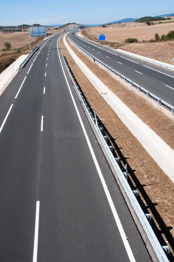 Εθνική οδός κάτω από την κατασκευή, Ισπανία στοκ εικόνες με δικαίωμα ελεύθερης χρήσης