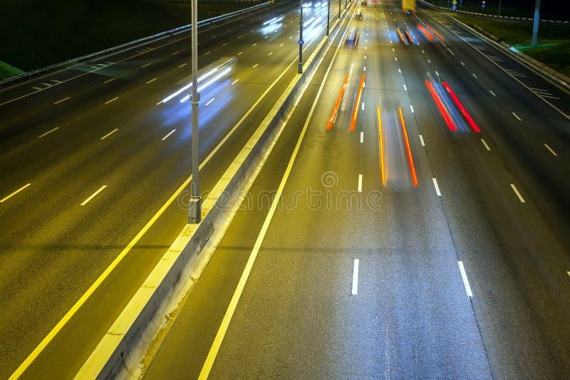 Εθνική οδός νύχτας στοκ εικόνες με δικαίωμα ελεύθερης χρήσης
