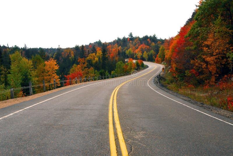 εθνική οδός πτώσης στοκ εικόνες