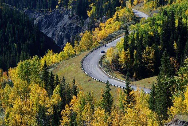 εθνική οδός rockies στοκ εικόνες