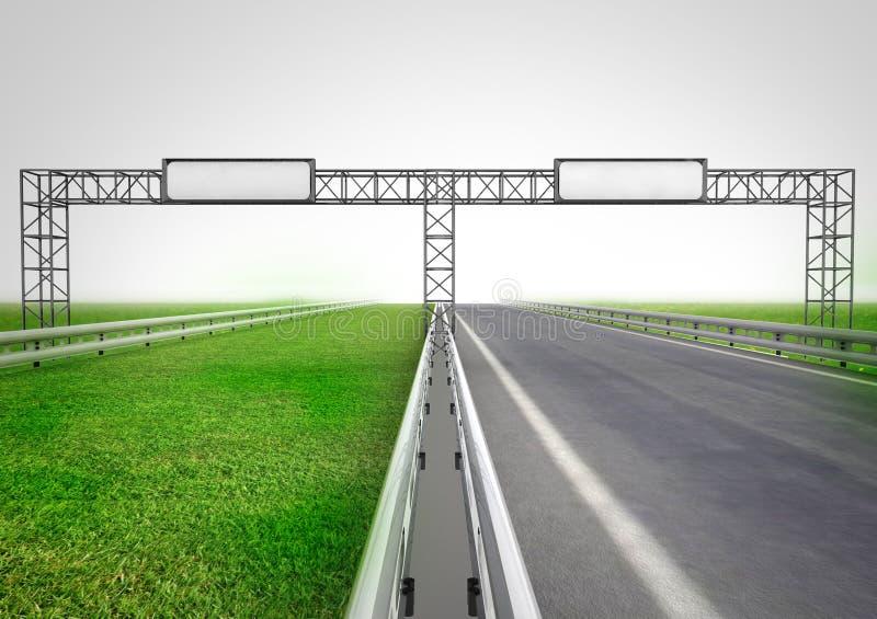 Εθνική οδός για την οικολογική και κανονική μεταφορά διανυσματική απεικόνιση
