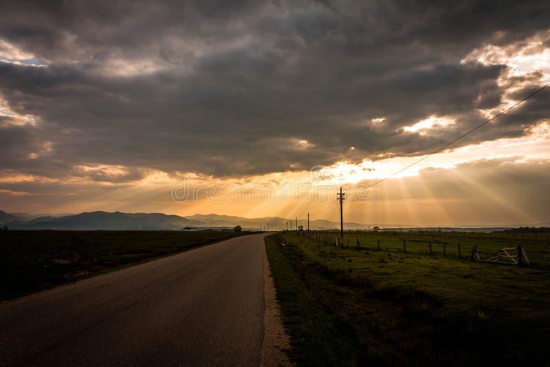 εθνική οδός ουρανού στοκ εικόνα με δικαίωμα ελεύθερης χρήσης