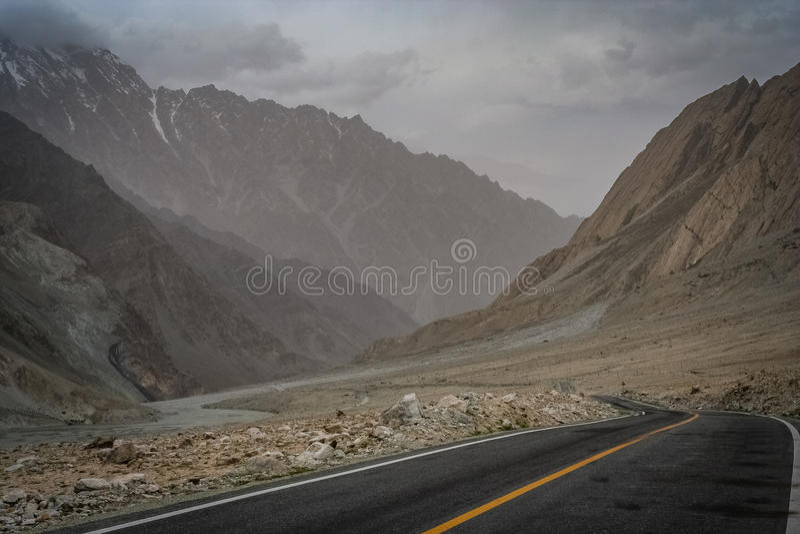 Εθνική οδός Karakorum στοκ εικόνες με δικαίωμα ελεύθερης χρήσης