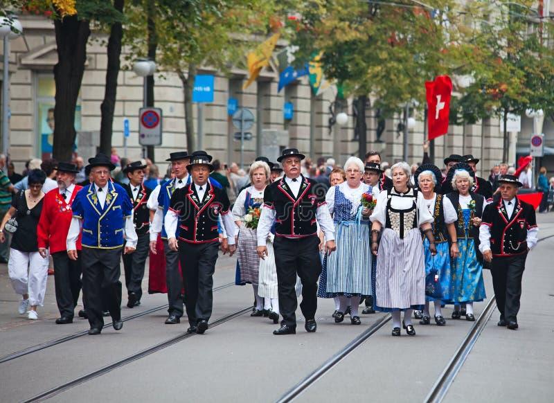 εθνική παρέλαση ελβετικ στοκ φωτογραφίες με δικαίωμα ελεύθερης χρήσης